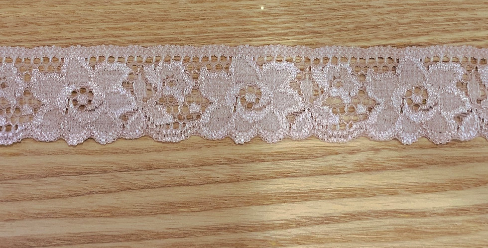 Dusty Rose Hand Dyed Stretch Lace...
