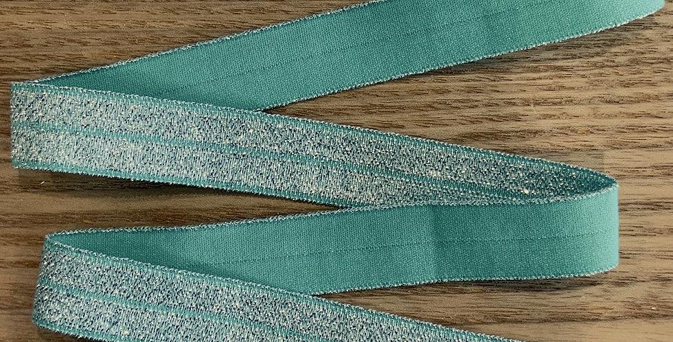 Pastel Jade Shimmer Foldover Elastic...