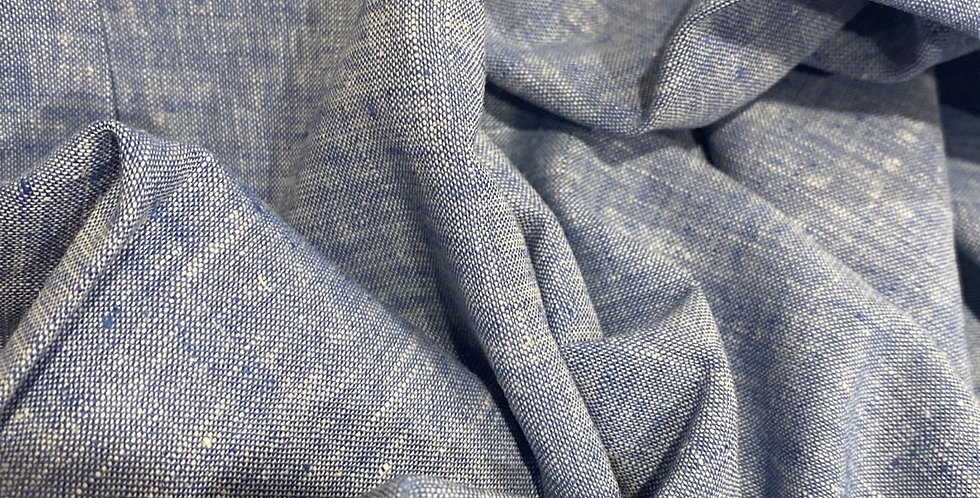 chambray blue linen remnant