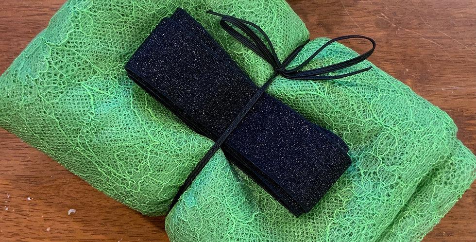 Lime Green Gathered Skirt Tutorial Kit...