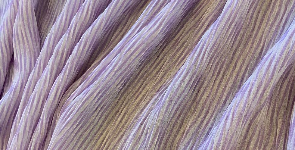 Lilac Stripes Micro Pleat Georgette...