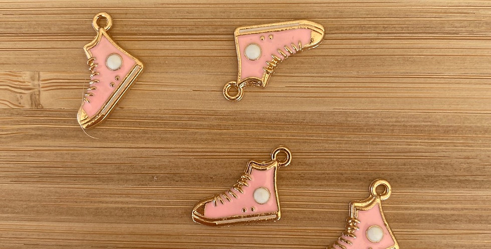 Pale pink high top sneaker charm