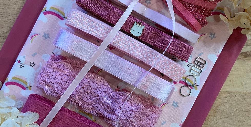 Unicorn Kitten French Cotton Spandex Knit Lingerie Kit...