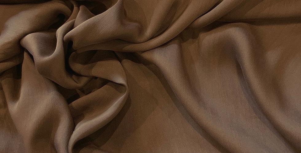 Milk Chocolate Italian Sateen Silk Cotton Voile