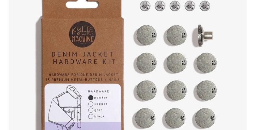 KATM denim jacket hardware kit PEWTER