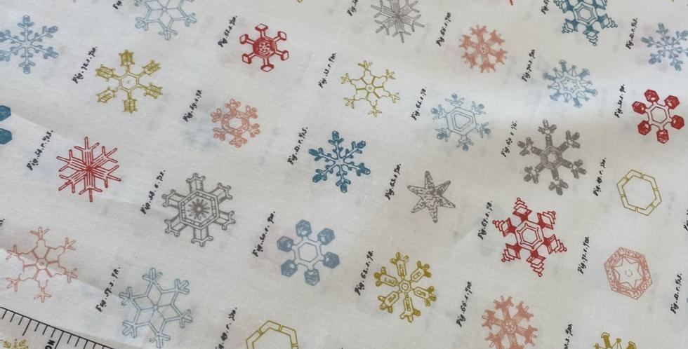 Art gallery fabrics snow crystals cotton