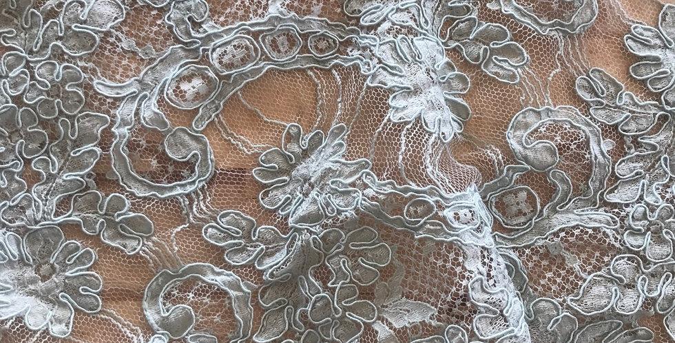 Dusty duck egg lace piece #1