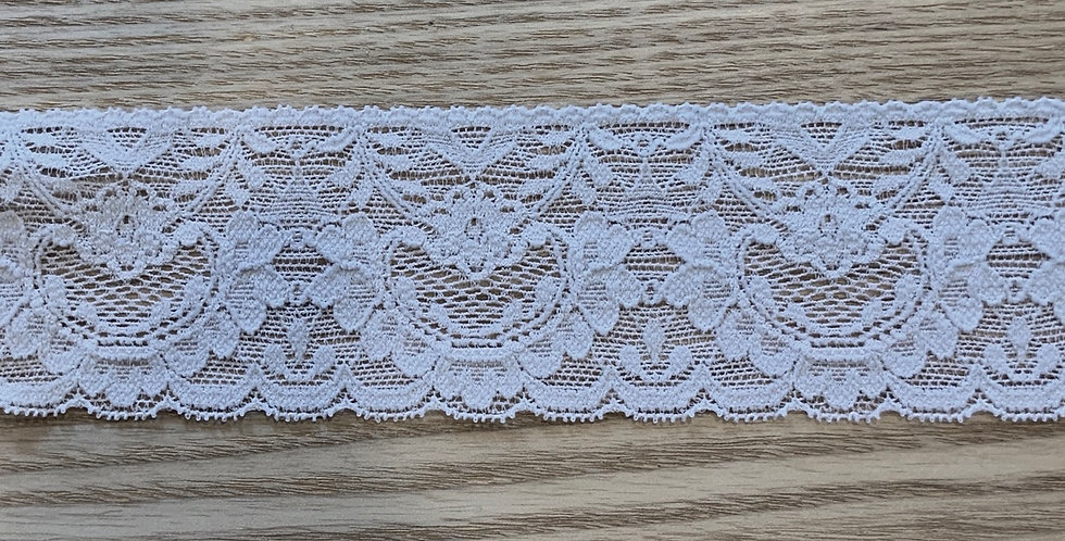Pale Grey Hand Dyed Stretch Lace...