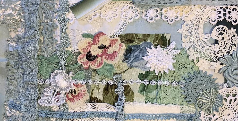 Slow Stitching Vintage Textiles  Pack Powder Blue….