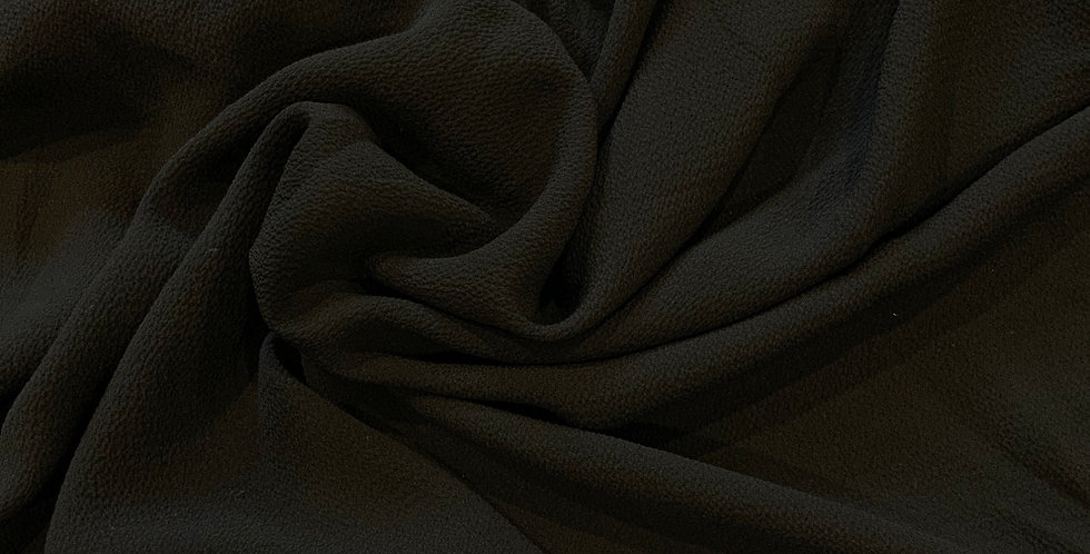Black Lightweight Polyester Stretch Woven Crepe...