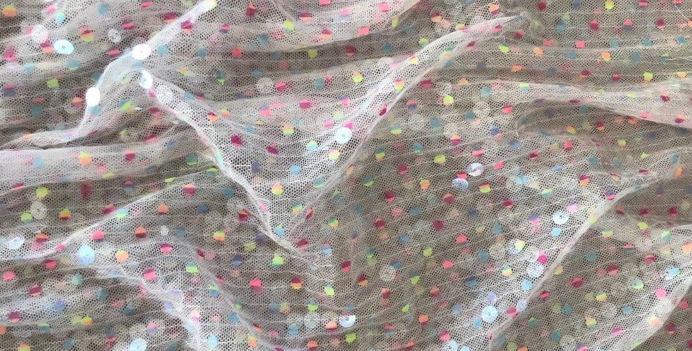 Mardi Gras sequin mesh