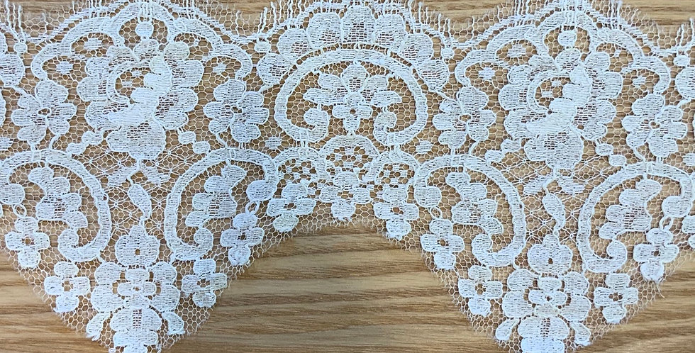 Pale Cream French Chantilly Lace Trim....