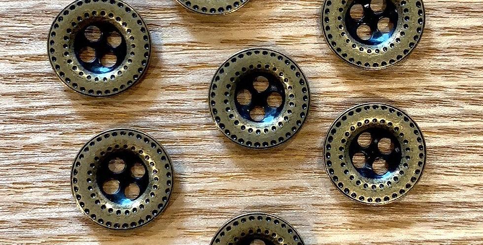Billy Aged Brass Button
