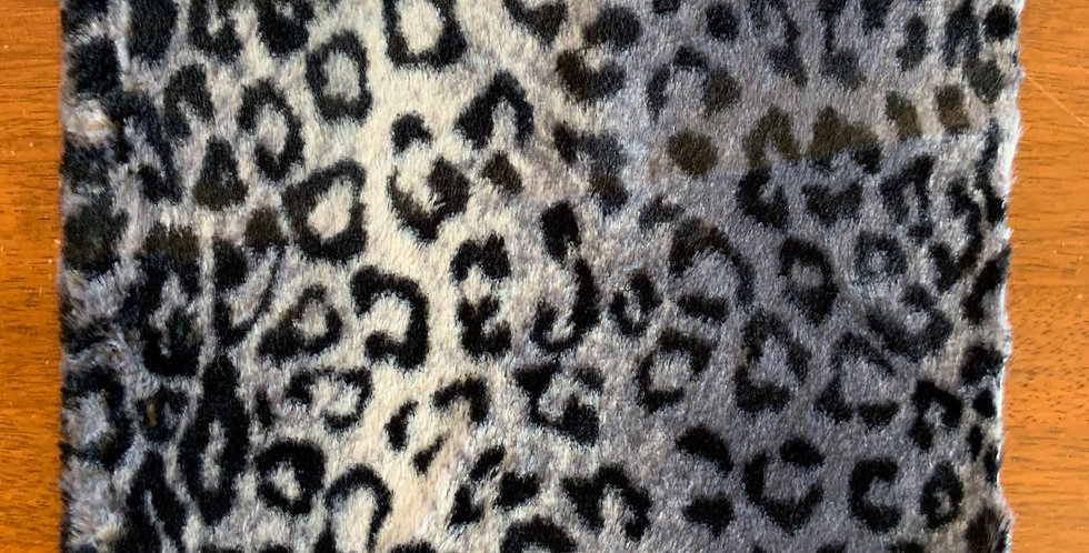 Grey Leopard Low Pile Fur Piece...