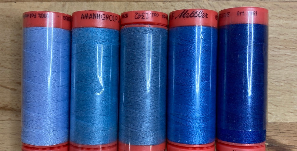 Metrosene Mixed Blue Thread Pack #6