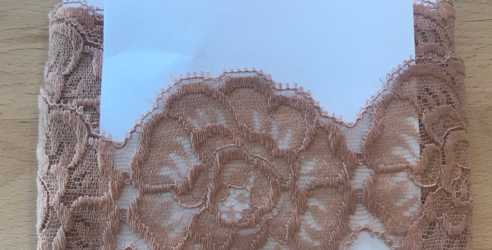 Hand dyed vintage English lace remnant