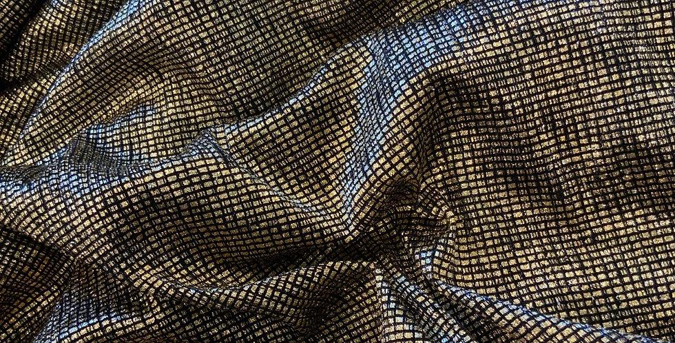 Gold Foil Knit Mesh Remnant