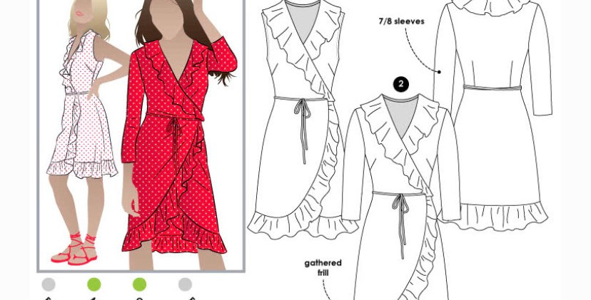 Style arc giselle dress printed pattern
