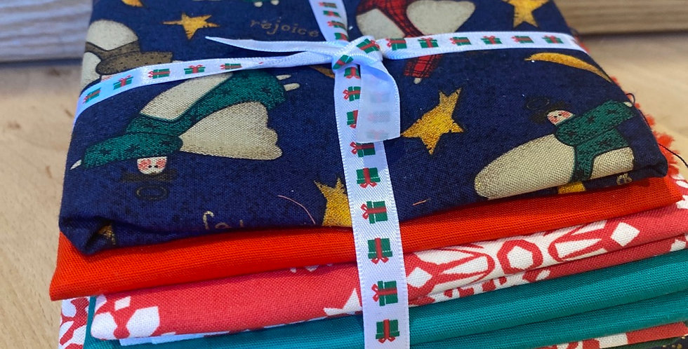 patchwork fabric bundle christmas