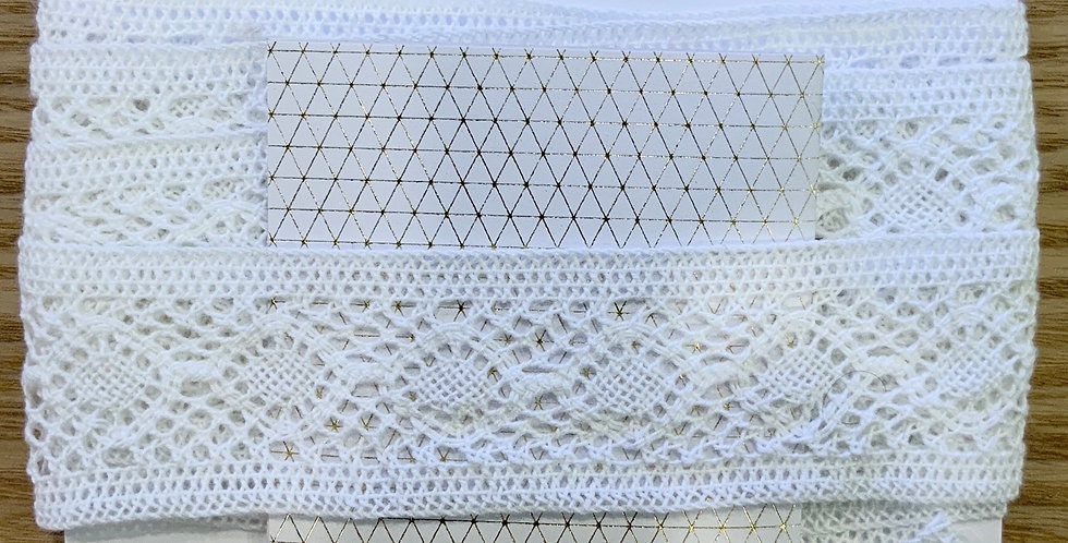 White Cotton Crochet Insertion Lace...