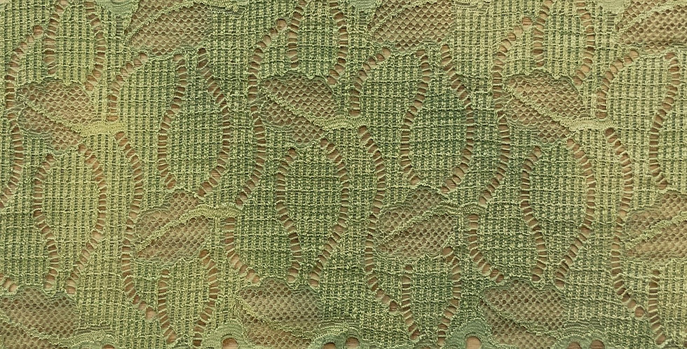 Muted Lime Hand Dyed Stretch Lace...