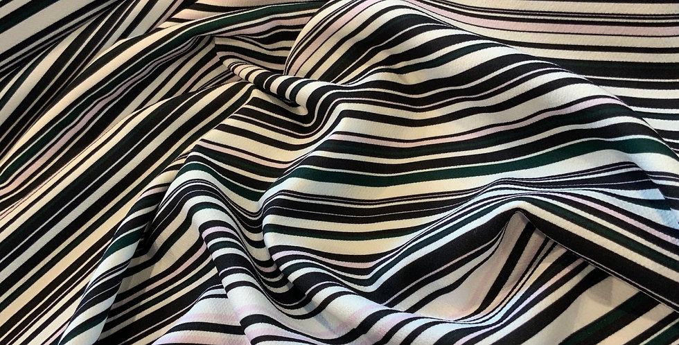 Genie Stripes Polyester Crepe....