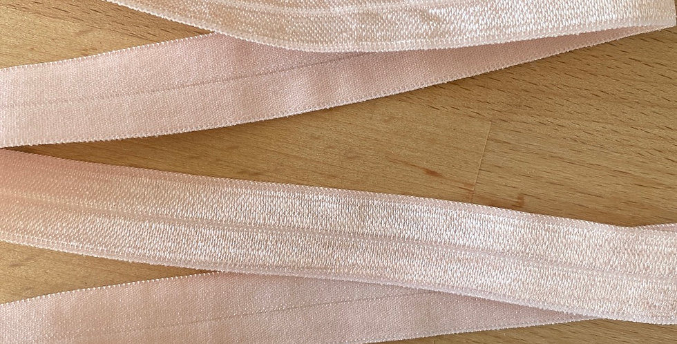 Powder pink 15mm fold over elastic