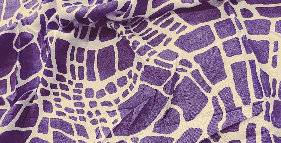 Purple Crocodile Lightweight Woven Viscose Remnant