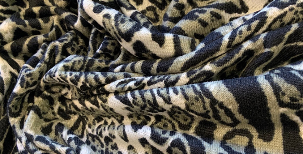 Khaki Leopard Lightweight Jumper knit Remnant