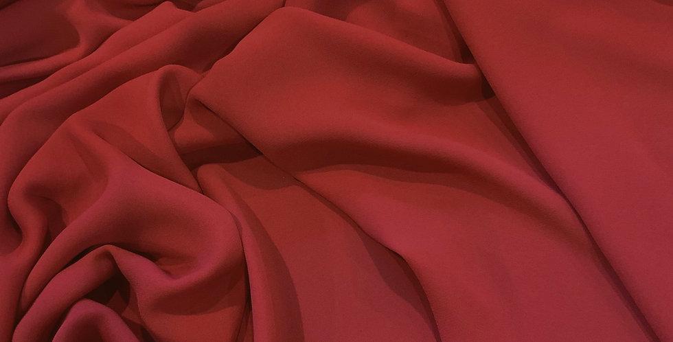 Red Terracotta Lightweight Tripple Crepe Georgette