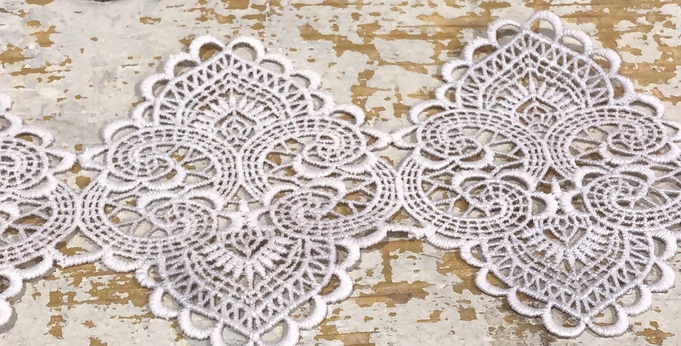 Istanbul Latte Lace trim Hand dyed