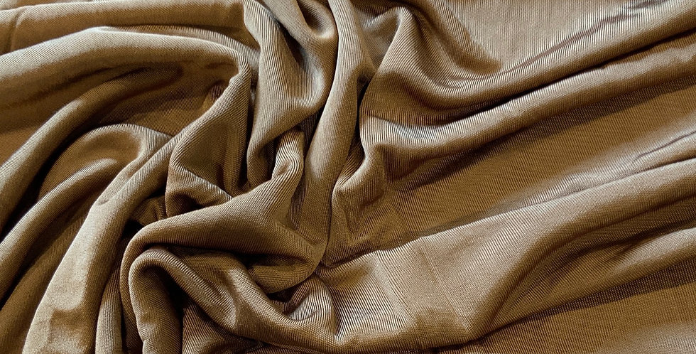 Silky Old Gold Viscose Jersey Remnant