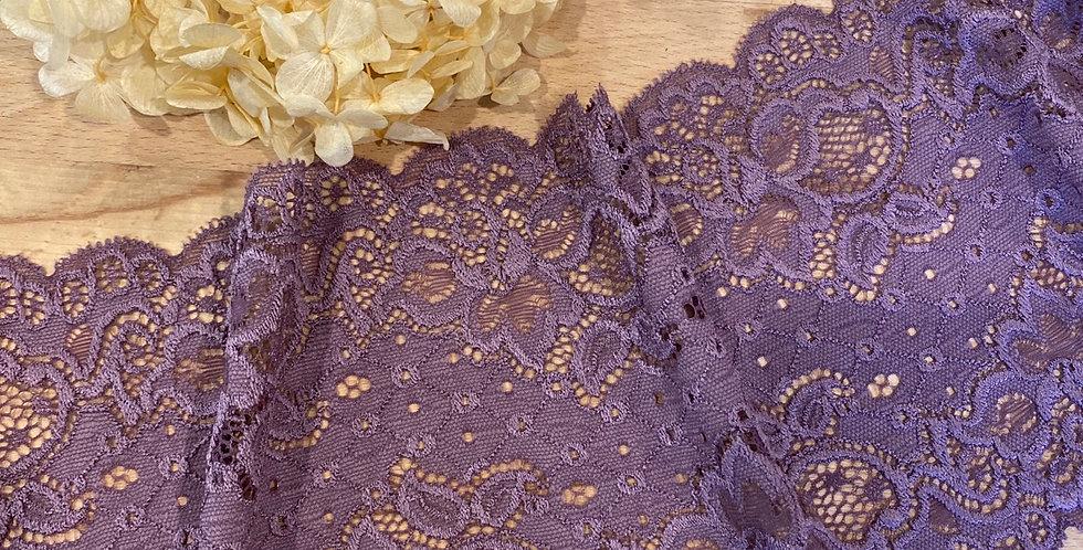 Dusty amethyst rose stretch lace