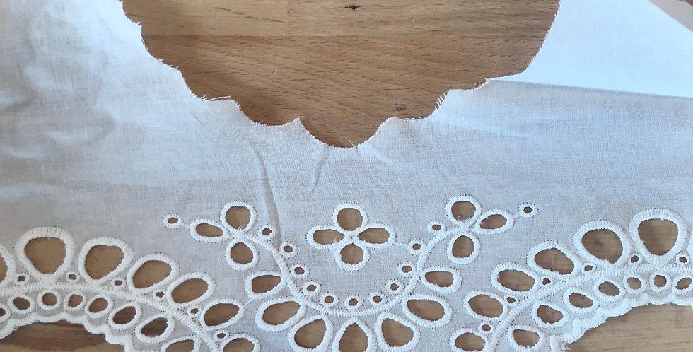 Katie Cream Embroidered Broderie Trim...