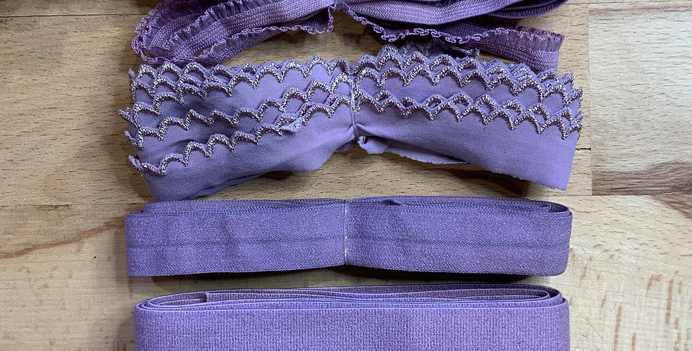 Mottled Mauve Hand Dyed Stretch Trim Pack