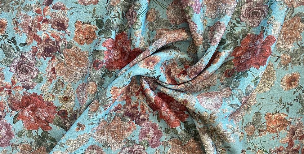 Lady McElroy spearmint haze polyester spandex crepe
