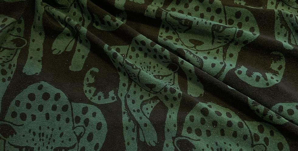Paapii Cheetah Green Stretch Terry…