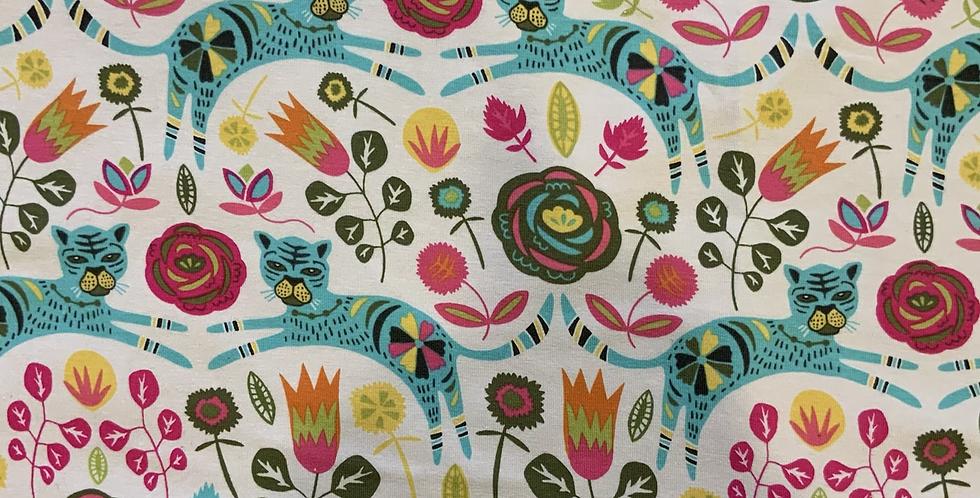 Art Gallery Fabrics Leaping Tigers Small Cut…