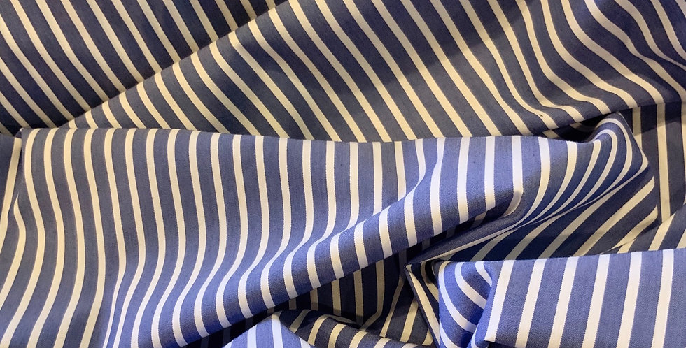 Surry Stripe Stretch Cotton Shirting...