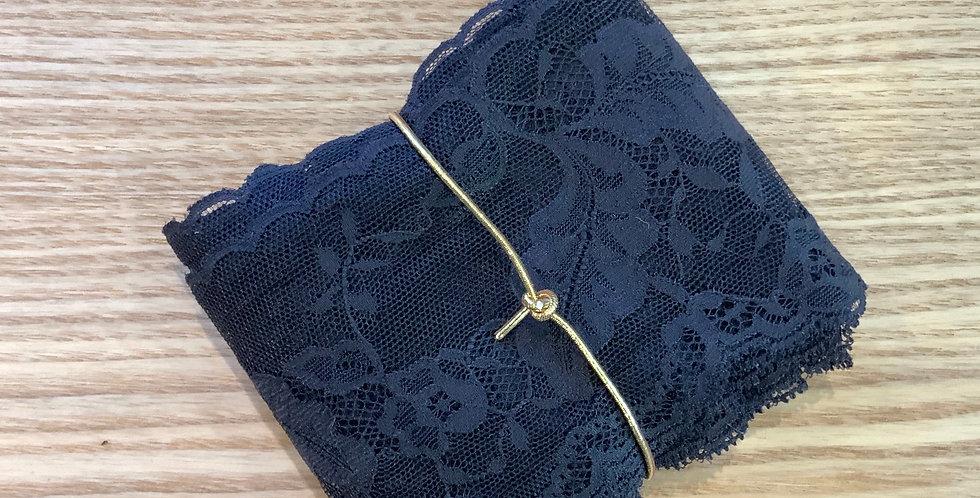 5mtr Bundle Black Leaf Lace..