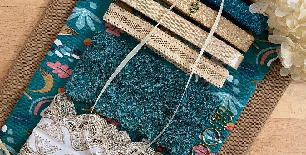 Playful Fox French Cotton Spandex Knit Lingerie Kit...