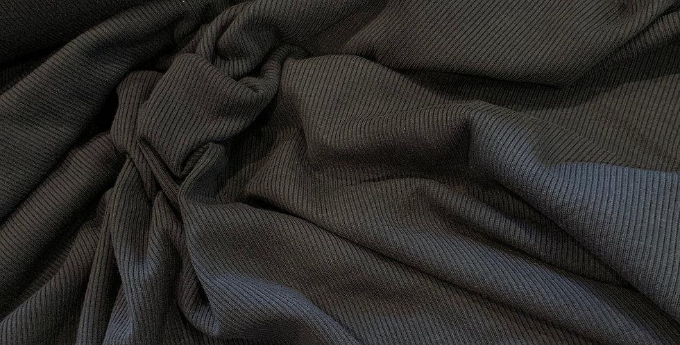 Navy Super Stretch Cotton Rib Knit