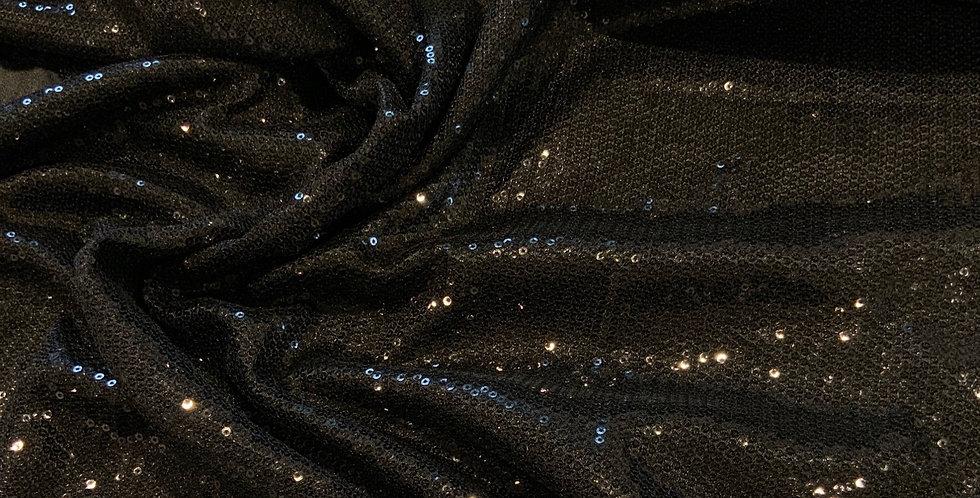 Black Micro Sequin Satin...