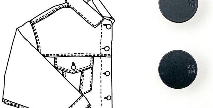 KATM denim jacket hardware kit black