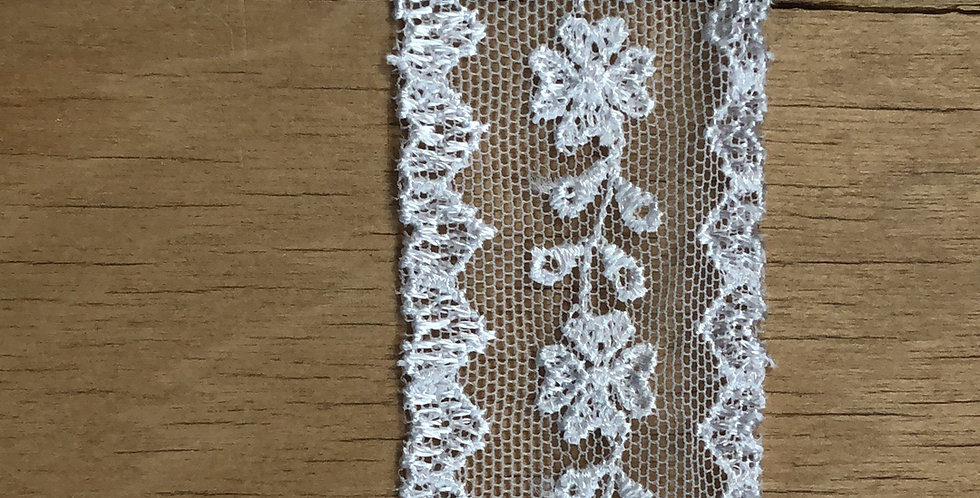 Miranda winter white lace trim