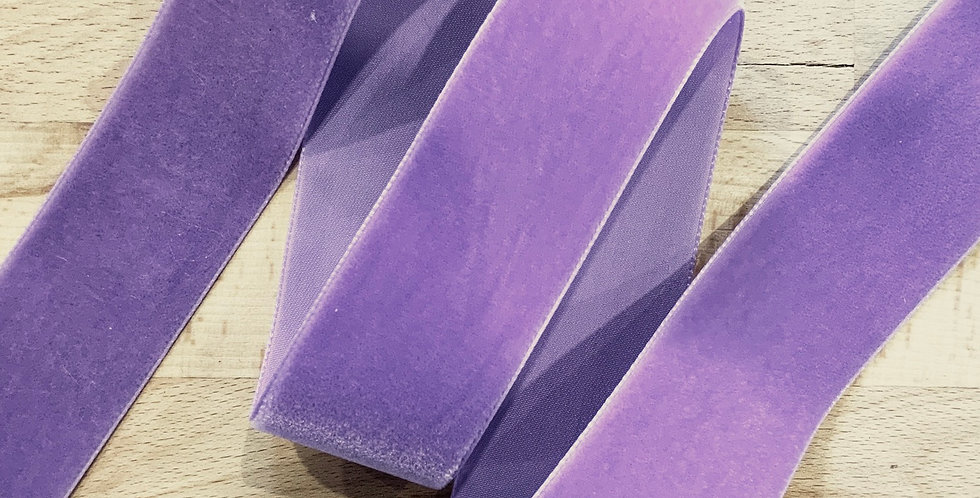 Lilac 36mm Swiss Velvet Ribbon
