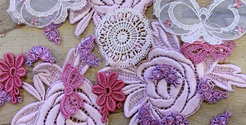 Pink Hand Dyed Lingerie Motif Pack…