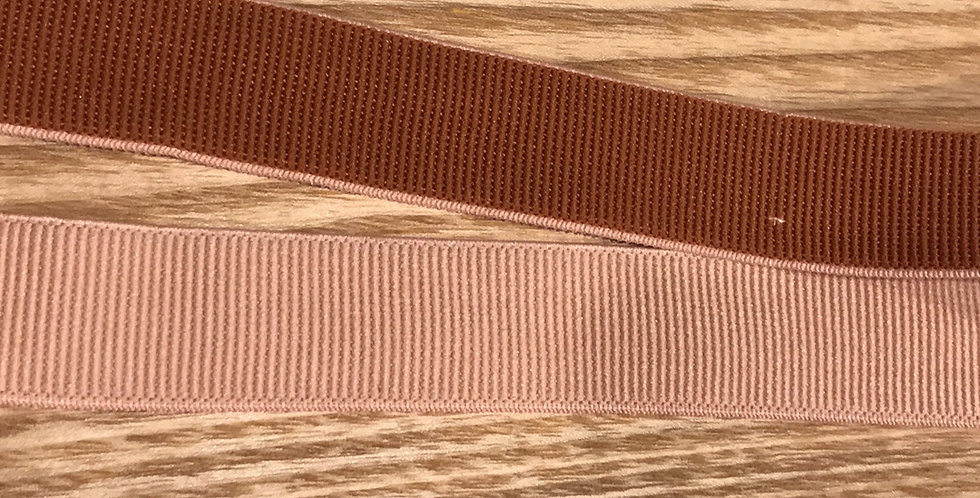 Tan peach reversible elastic