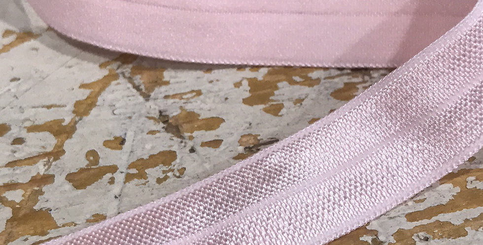 Baby pink foldover elastic