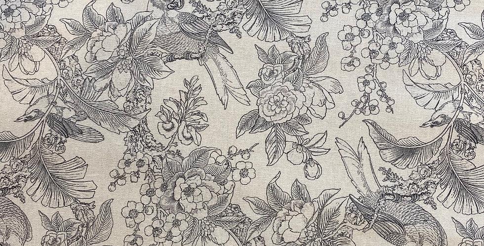 Hand drawn rainforest linen cotton